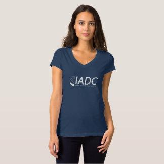 T-shirt du V-Cou des femmes d'IADC - marine