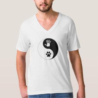 T-shirt du V-Cou des hommes (habillement