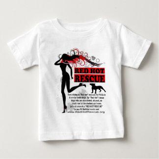 T-shirt d'un rouge ardent de bébé de délivrance -
