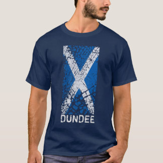T-shirt Dundee + Drapeau écossais affligé