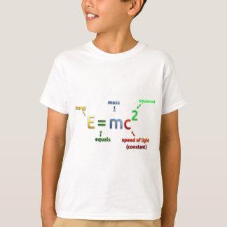 T-shirt E = MC^2. E égale MC carré