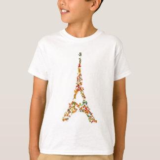 T-shirt Éclaboussure de Tour Eiffel peignant Paris