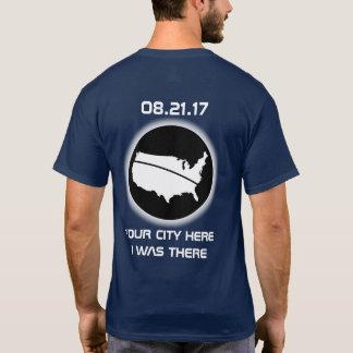 T-shirt Éclipse - J'ÉTAIS LÀ - votre ville 08.21.17