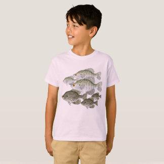 T-shirt Écoles de crapet blanc et noir