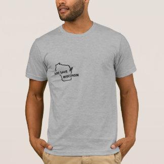 T-shirt Économies le Wisconsin de Dieu