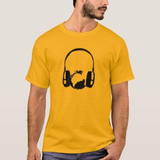 T-shirt Écouteurs autour d'un globe
