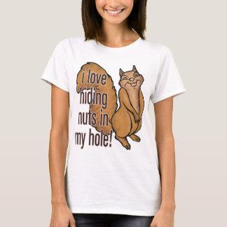 T-shirt Écrous en mon trou ! Chemise drôle d'écureuil