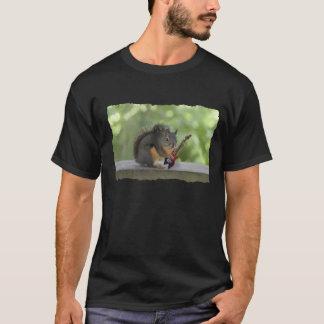 T-shirt Écureuil jouant la guitare électrique