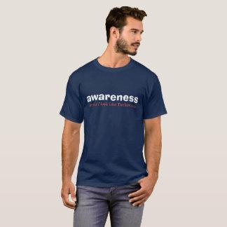T-shirt édition blanche de conscience et bleue rouge
