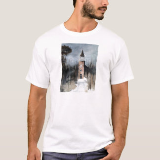 T-shirt Église d'hiver : www.AriesArtist.com