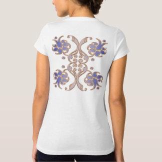 T-shirt élément d'or de damassé florale