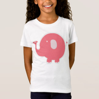 T-Shirt Éléphant de roses pâles