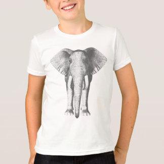 T-shirt Éléphant en noir et blanc