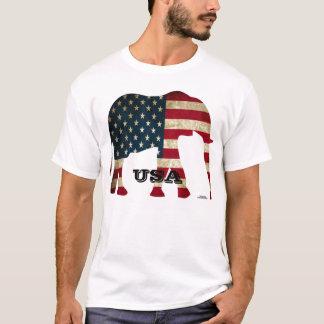 T-shirt Éléphant Etats-Unis