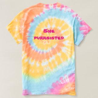 T-shirt Elle chemise de chat d'arc-en-ciel de Purrsisted