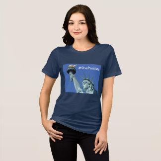T-shirt Elle persiste - statue de chemise de liberté