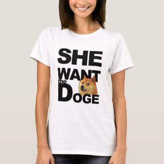 T-shirt Elle veulent le doge