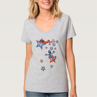 T-shirt Elmo et Grover parmi les étoiles