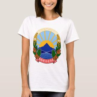 T-shirt emblème de la Macédoine