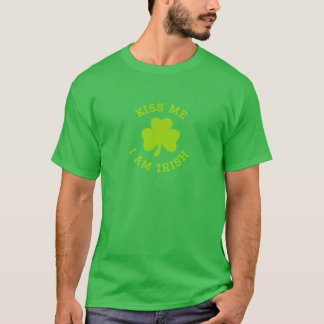 T-shirt Embrassez-moi que je suis irlandais, le jour de St