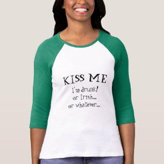 T-shirt Embrassez-moi que je suis ivre