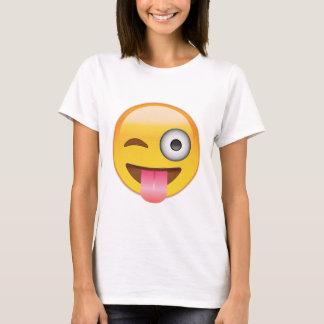 T-shirt Emoji - visage souriant avec la langue