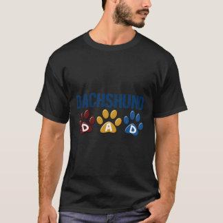 T-shirt Empreinte de patte 1 de papa de TECKEL