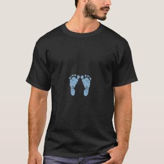 T-shirt Empreintes de pas de bébé bleu