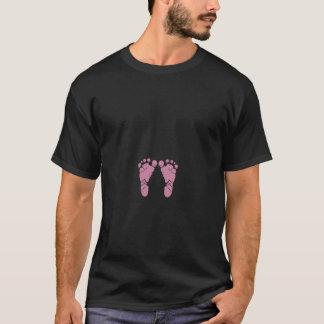 T-shirt Empreintes de pas roses de bébé