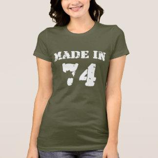 T-shirt En 1974 chemise faite