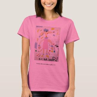 T-shirt en abondance long de douille de caniches