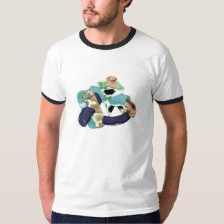 T-shirt en acier de poumons de heart& des tubes 3D