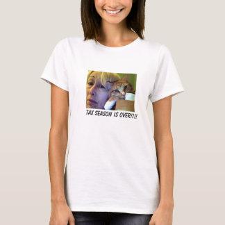 T-shirt Encore avec l'appareil-photo, la saison d'impôts