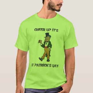 T-shirt Encouragez son Jour de la Saint Patrick, lutin