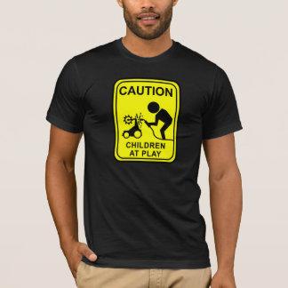 T-shirt Enfants de précaution au jeu - soudeuse de robot