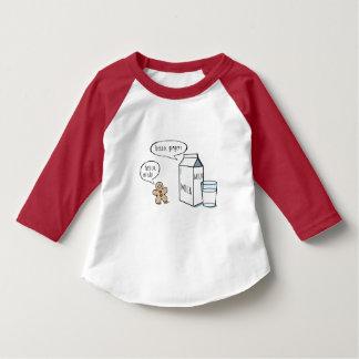 T-shirt Enfants drôles de lait et de gingembre T blanc