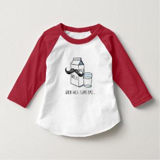 T-shirt Enfants drôles de lait et de moustache T blanc