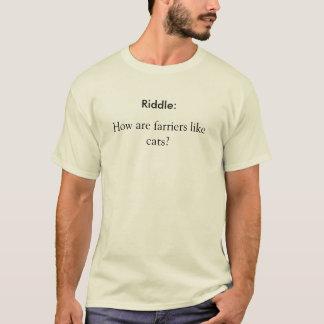 T-shirt Énigme : , Vont-ils comment les maréchaux-ferrants