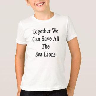 T-shirt Ensemble nous pouvons sauver toutes les otaries
