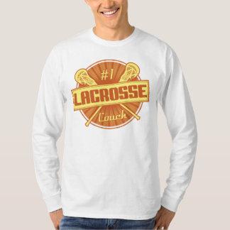 T-shirt Entraîneur de lacrosse du numéro 1