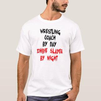T-shirt Entraîneur de lutte de tueur de zombi