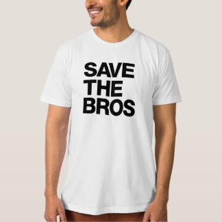 T-shirt Épargnez T des hommes organiques de Bros - blanc