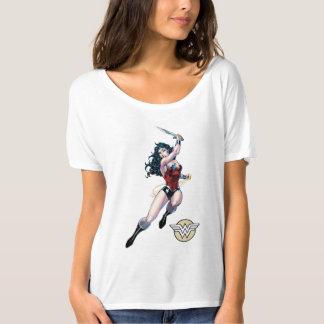 T-shirt Épée de oscillation de femme de merveille