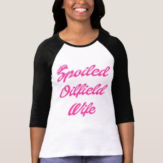 T-shirt Épouse corrompue de gisement de pétrole avec la