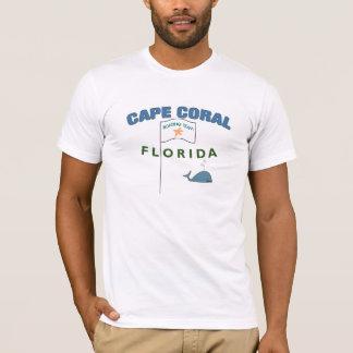 T-shirt équipe de corail de canotage de cap