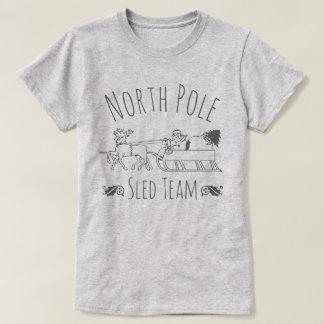 T-shirt Équipe de traîneau de Pôle Nord