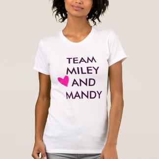 T-shirt Équipe Miley et coeur de Mandy