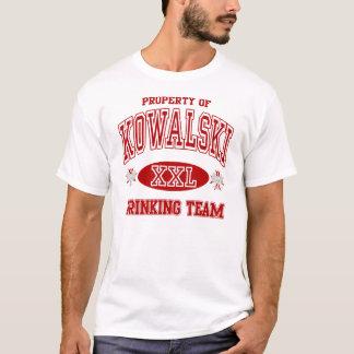 T-shirt Équipe potable de polonais de Kowalski