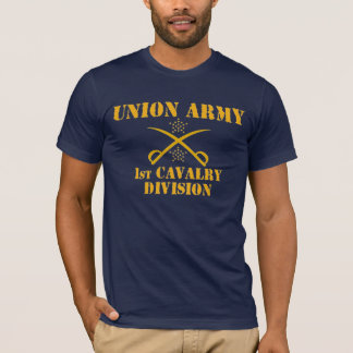 T-shirt ęr Division de cavalerie, chemise de guerre civile