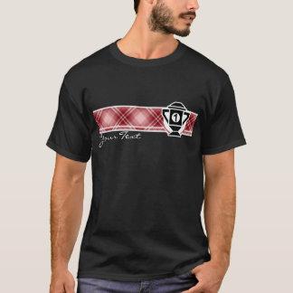 T-shirt Ęr trophée d'endroit de plaid rouge